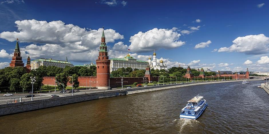 Vue sur le Kremlin de la rivière