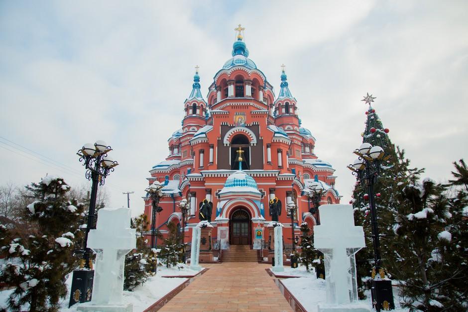Cathédrale Kazan en hiver