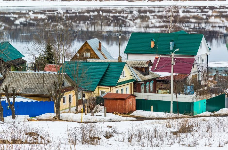 Petit village au bord de la Volga