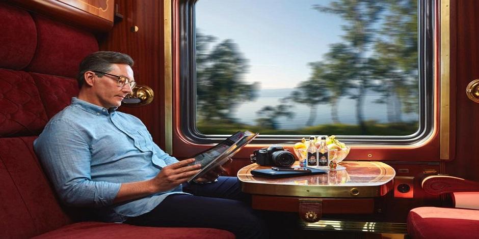 Passager à bord du train Or des Tsars